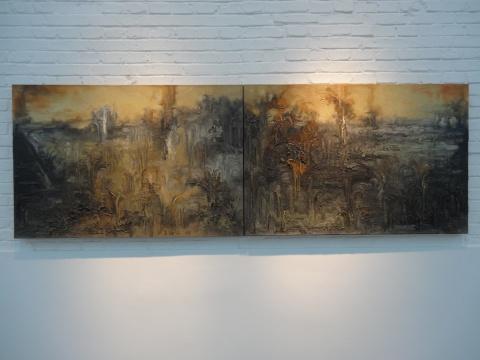 苏新平《风景系列二—17号》80X240cm 布面油画 2014