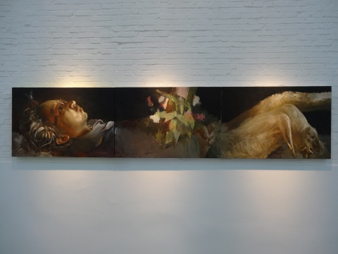 王华祥《那一天是哪一天》360x80cm 木板油画 2014