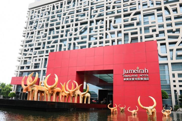 卓美亚喜马拉雅 酒店里的中国风景
