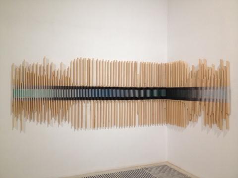 于洋反思了水墨呈现的自然秩序与人为秩序的混杂性,作品名为《无序与有序》