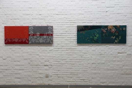 张耒的作品《占梦S》,探讨现成品与绘画之间的关系。