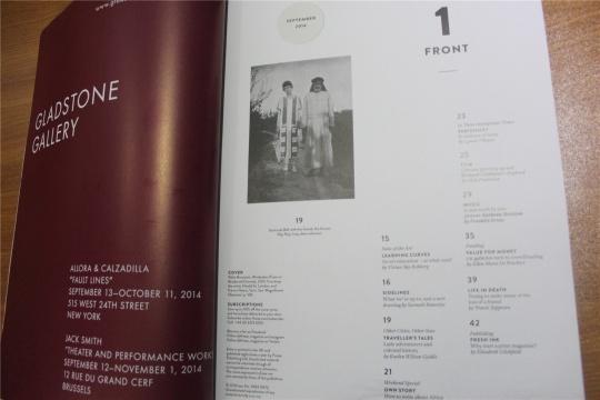 杂志目录页(部分)图片