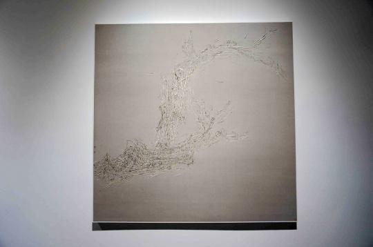 郝世明《草木201406》绢本水墨136 cm×136cm2014