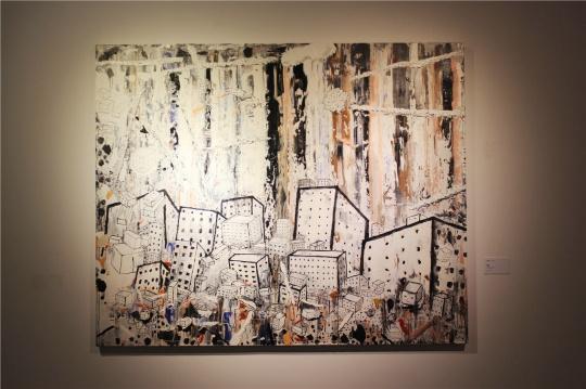 李继开2014年油画新作《风景》。