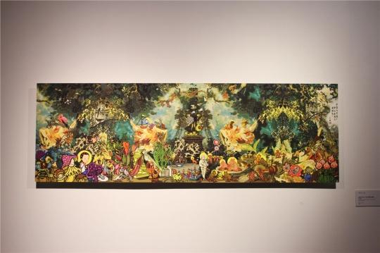 """熟悉的""""我第一百万次在人间等你"""",来自卜桦,本次展出了其中的她的同名数字绘画。"""