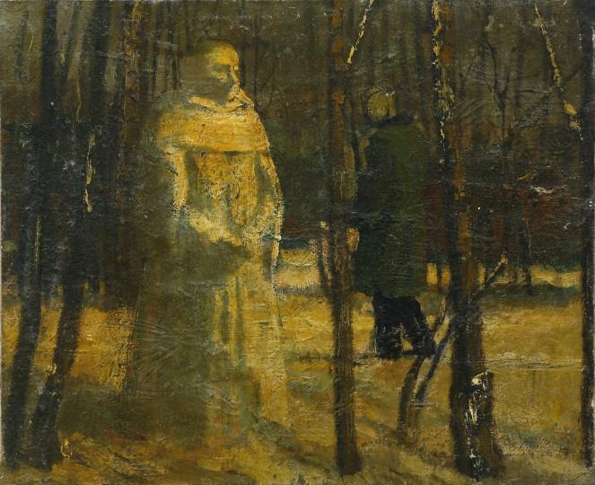 《场之一》 布上油画 30.5x37.5cm 1999