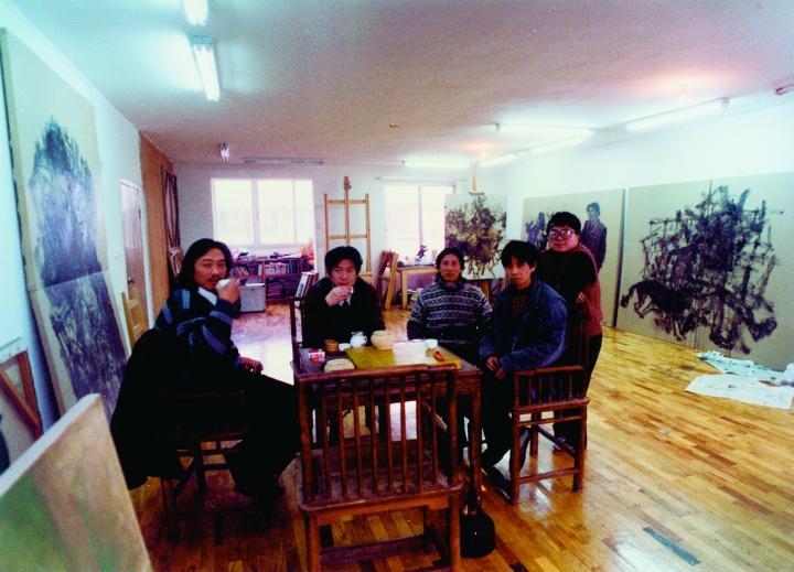 1995年左右,周老师与朋友在玉林沙子堰小区的工作室