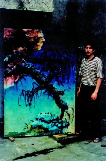 1993年周老师在玉林沙子堰小区