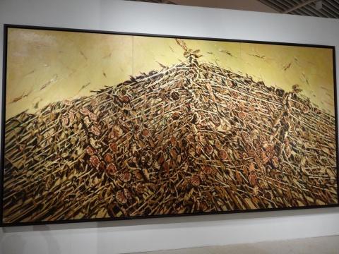《东方葵-金塔》 2.8mx5.4m 布面油画 2014