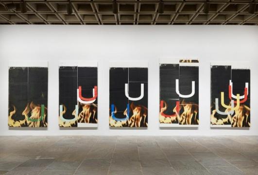 图片为卫德·盖顿2013年在纽约惠特尼美术馆的个展