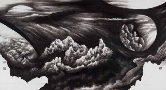 姬子《大宇之维2号》纸本水墨 145x266cm 2010