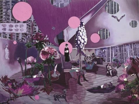 金阳平《城市之镜1号》布面油画 200x265cm 2011