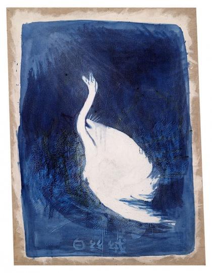 廖国核 《白丝绒》 115.5x85cm 画布油画 2007