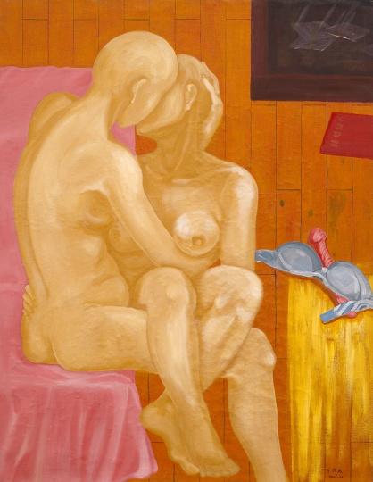 王兴杰 《卧室》 114x88cm 画布油画 2000
