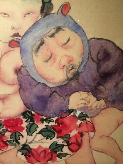 《我的爱不变》(局部) 43×38cm 纸本设色 2014