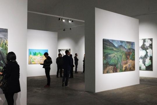 """""""自觉:绘画十二观""""展览现场"""