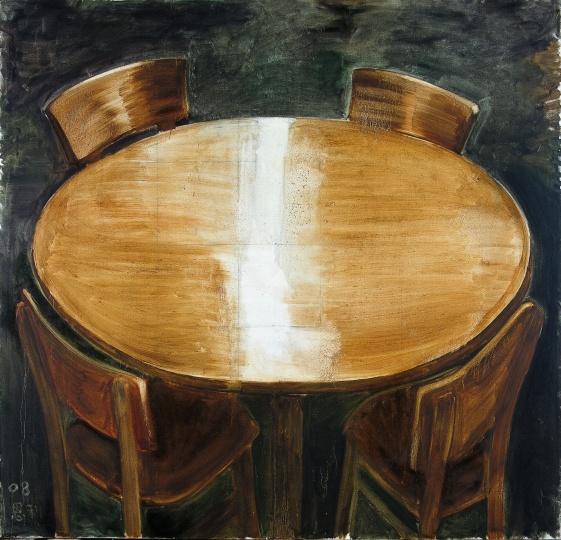 张恩利 《桌子》 200×210cm 布面油画 2008