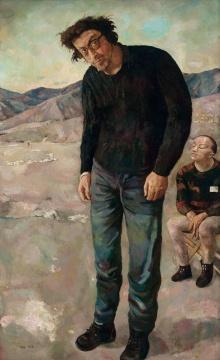拥有独特个人气质的艺术家朝戈,无法忽视的市场潜力,再一次得到印证。刷新艺术家个人拍卖记录的这件拍品《两个人》以931.5万元由龙美术馆馆长王薇成功竞得