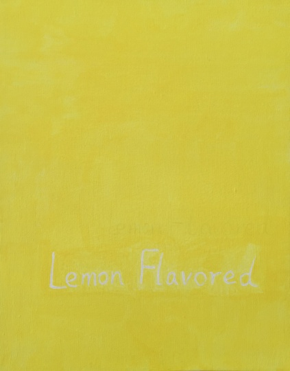 何翔宇 《Lemon Flavoved》 27.9×35.6cm 布面油画 2014