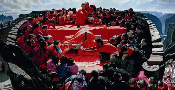 王沂东《太行喜事》180x350cm布面油画2010-2014
