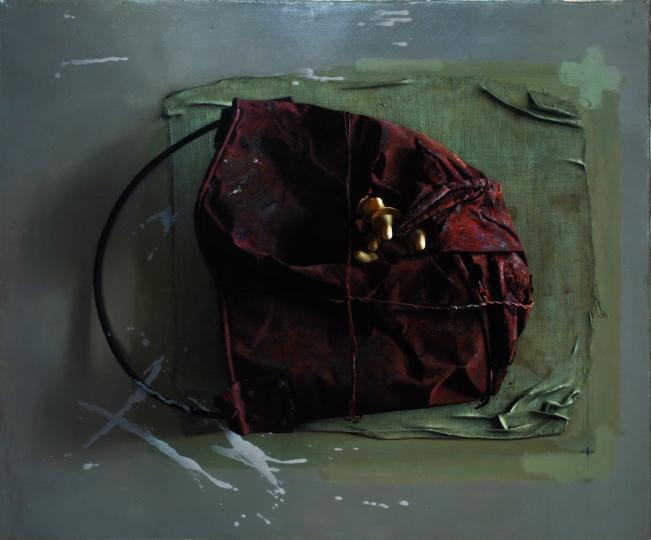 冷军 《襁褓》73x60cm 布面油画 1998
