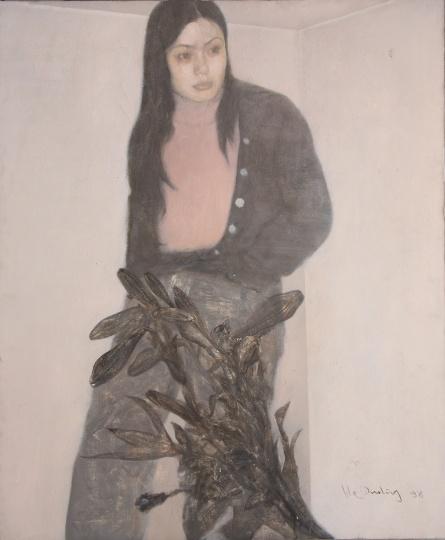 何多苓 《海英与花》120x99.5cm 布面油画 1998