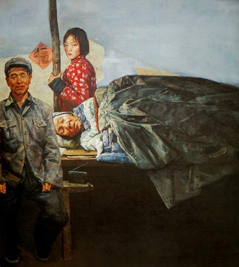 王少伦 《歌声》200x180cm 布面油画2002