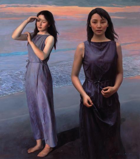 袁正阳 《风中的沙》 170x150cm 布面油画 2011