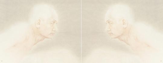 杭春晖 《假亦真——惊》 纸本设色 128×50cm 2014年