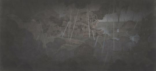 肖旭 《半个寓言》180×85cm 纸本水墨 2014年