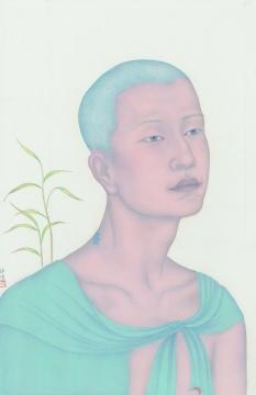 祝铮鸣 《百年孤独之四十三》 绢本设色 52×33cm 2014年