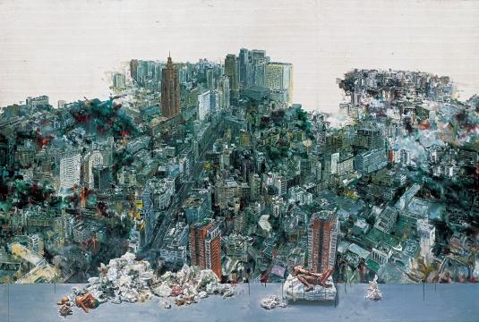 Lot678 屠宏涛 《或成都·或东京·或深圳》 200x300cm  2006 估价:80-120万