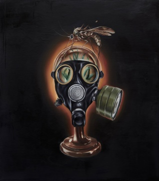 《被观赏的自由》 90x80cm 布面油画 2014