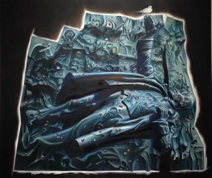 《愿者上钩的海市蜃楼》 布面油画 205x175cm 2014