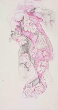 《女鞋》 纸本水墨 182×97cm 2011