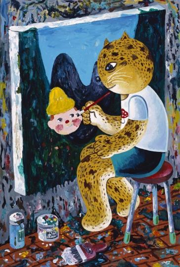 《小穗画我》 175× 110cm 布面丙烯 2011