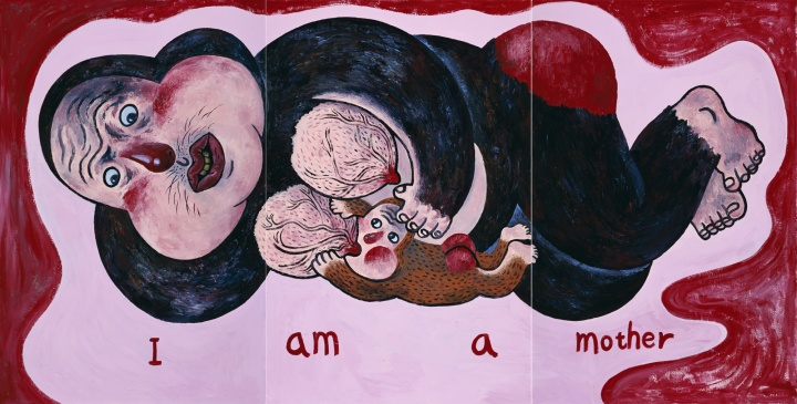 《I am a mother》168 × 110cm × 3  布面丙烯   2011