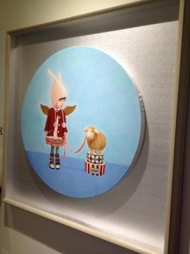 初止帆 《十二生肖之羊》 直径70cm 布面油画 2014
