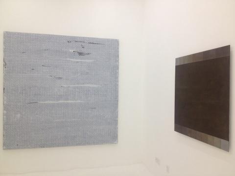 左边依然是曾宏的作品《白色的形状-1》,右边则是张震宇的作品《Dust》系列