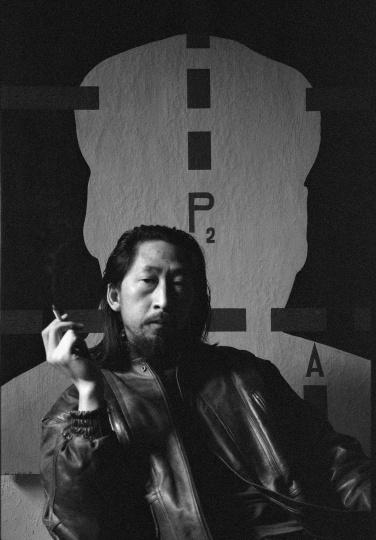 艺术家王广义,1992年2月,武汉