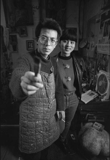 刘小东、喻红,1993年2月,北京