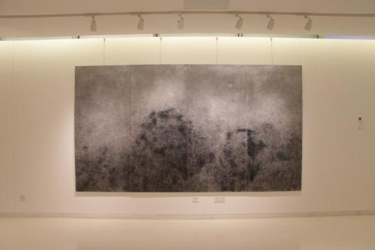 杨澄 《青岚·月》 200x360cm 布画油画 2011 胡建成推荐