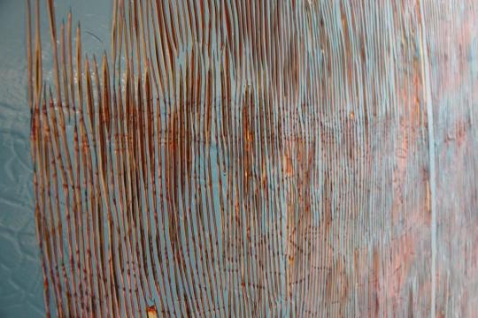 鞠婷 《聚集的大多数》NO.54 150x180cm 木板丙烯 2014 谭平推荐