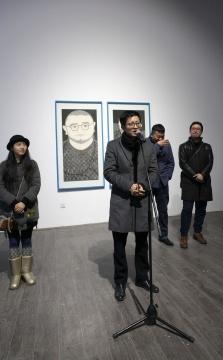 """杭春晓在""""双轨记——关于老鲁的一次'写生'""""展览开幕式上发言"""