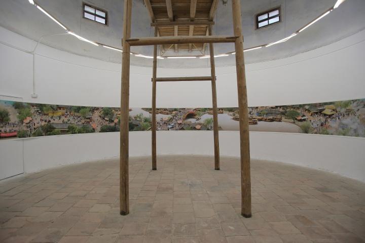 这个圆形展厅,完美地展示了戴翔创作的全长27米的《清明上河图》