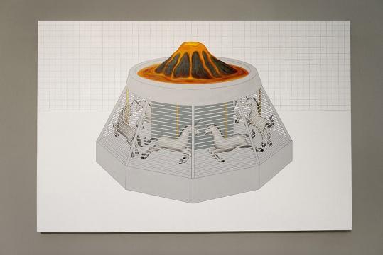 为数不多的架上作品中,高磊用一贯理性简洁的画面语言,对自我个体坐标的重新绘制,通过空间的形态进行有机组合,这就是画面力量的来源。