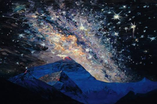 李新建 《珠峰星空》 200×300cm布面油画 2014
