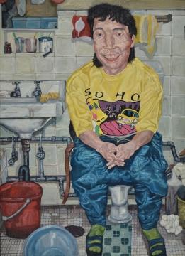 刘炜《自画像》 布面油画 170×130cm 1992