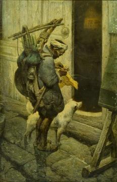 罗中立 《年终》 布面油画  169×117cm 1981