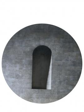 陈文骥《虚心》 直径180cm 布面油画 2006